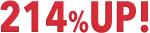 新規受注数214%UP!