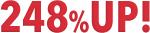 粗利益率248%UP!